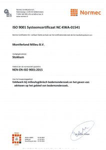 ISO9001 Systeem certificaat NL-KWA-01541